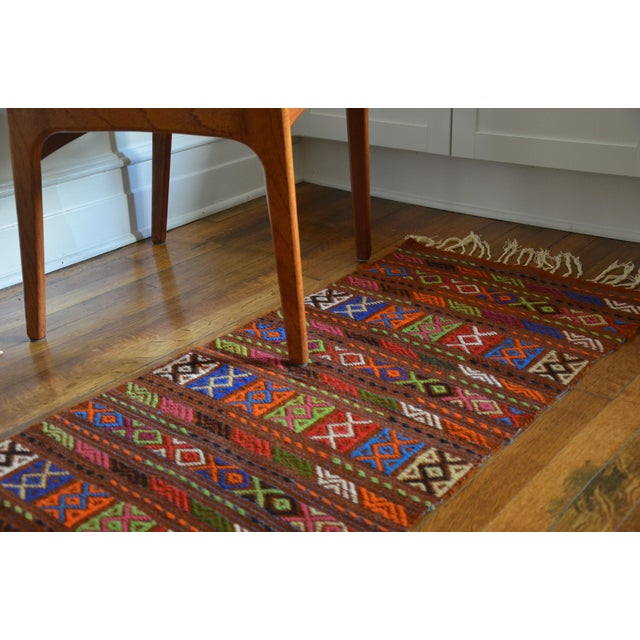 Peruvian Style Patterned Rug - 1′9″ × 4′3″ - Image 4 of 7