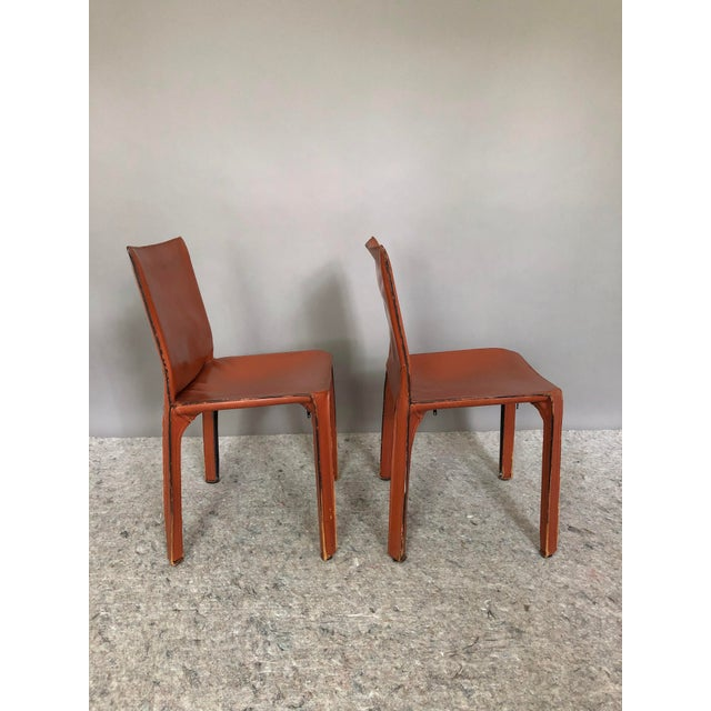 1970s Mario Bellini for Cassina Cab 412 Chairs - a Pair For Sale - Image 5 of 10