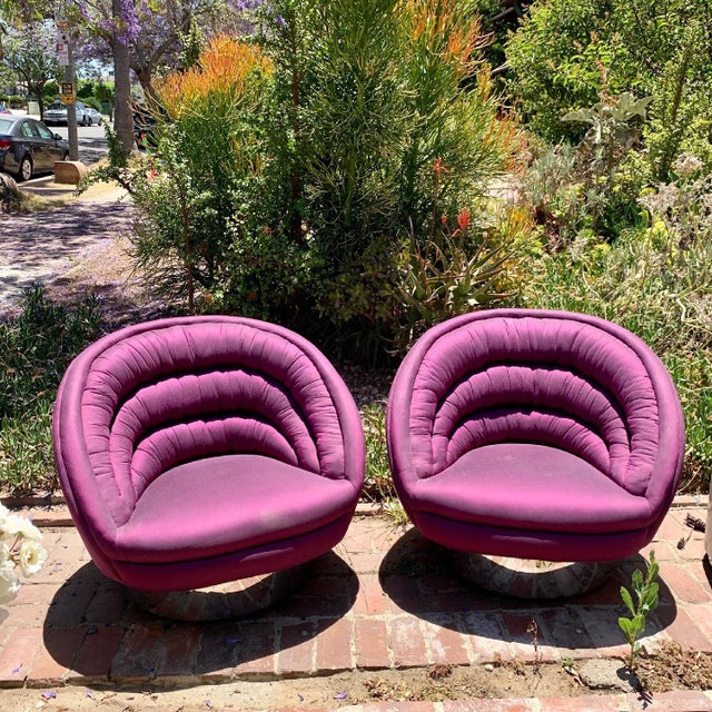 Vintage Vladimir Kagan Crescent Chairs, Unmarked - a Pair For Sale - Image 13 of 13