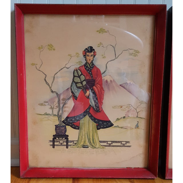 Vintage Chinois Prints - Pair - Image 4 of 4