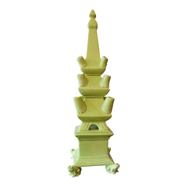Green Frog Footed 3-Piece Tulipiere Tower For Sale