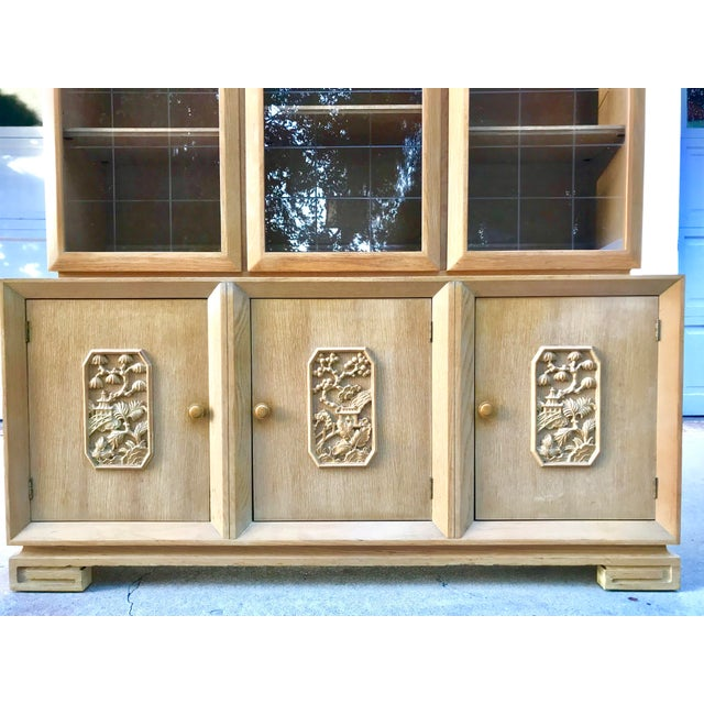 Mid-Century Chinoiserie Glass Front Cabinet - Image 4 of 8