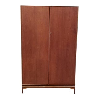 Mid Century Modern Teak Armoire by McIntosh C.1960s For Sale