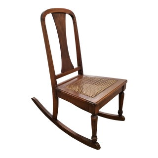 Antique Walnut Rocking Chair For Sale