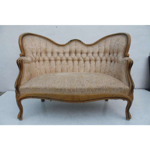 French Antique Carved Loveseat - Image 3 of 11