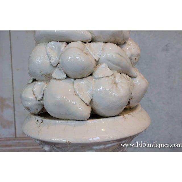 Large Spanish White Ceramic Centerpiece - Image 6 of 8