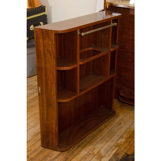 ART DECO EXOTIC WOOD AND EBONY BAR For Sale - Image 4 of 5
