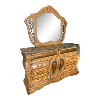 Aico Furniture Trevi Collection Dresser With Mirror For Sale