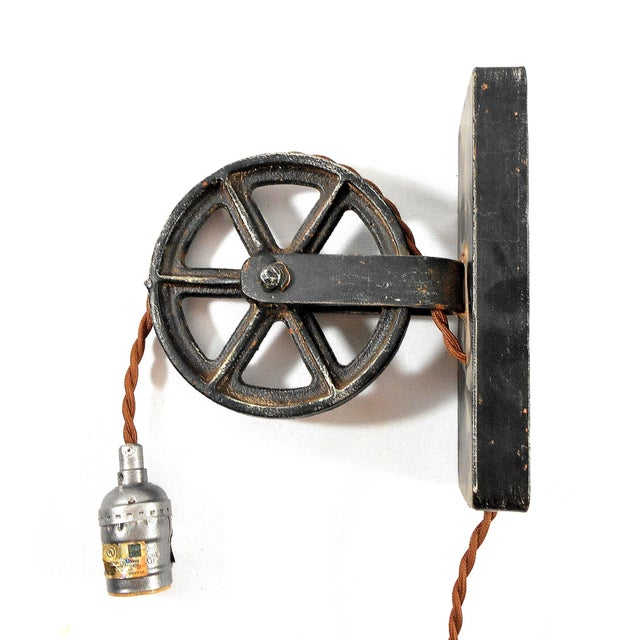 Industrial Factory Wheel Sconce Lamp – Large Size - Image 2 of 6