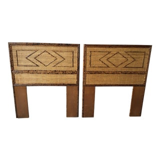 Twin Bamboo Headboards - a Pair