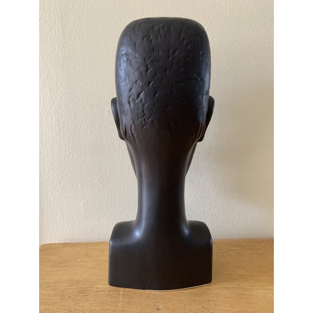 Elongated Ceramic Head Bust Decor Head For Sale - Image 4 of 13