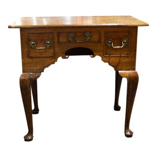 Antique English North Country Oak Lowboy For Sale