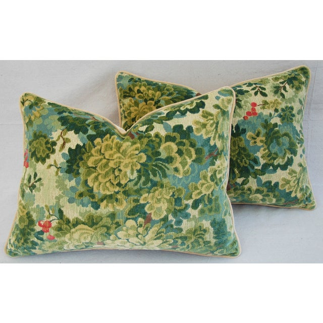 Designer Scalamandre Velvet Marly Pillows - Pair - Image 6 of 11