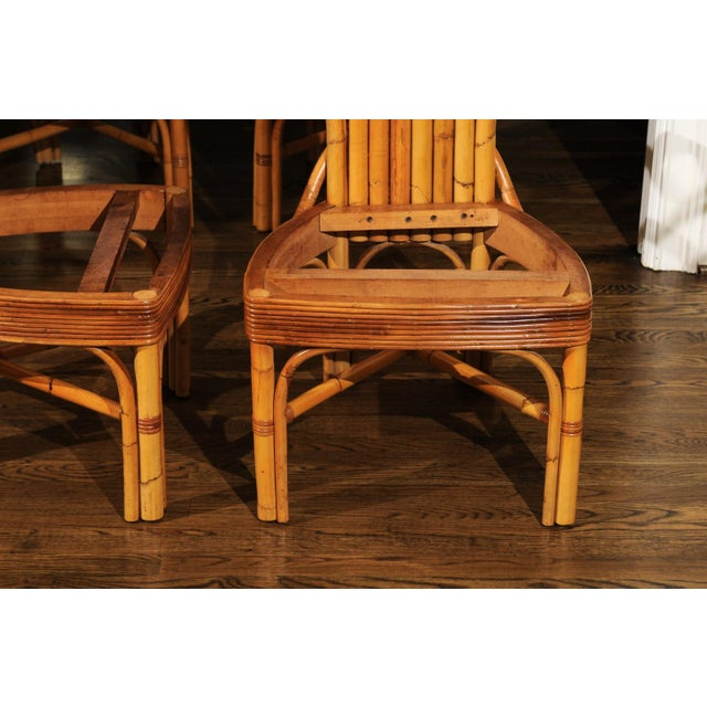 Jaw-Dropping Unique Pair of Custom-Made Palm Frond Chairs, circa 1950 For Sale - Image 10 of 13
