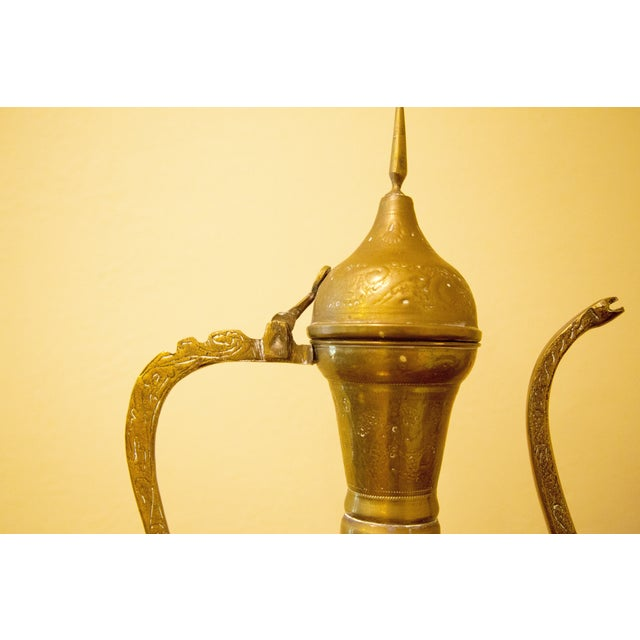 Vintage Moroccan Brass Tea Pot For Sale - Image 5 of 7