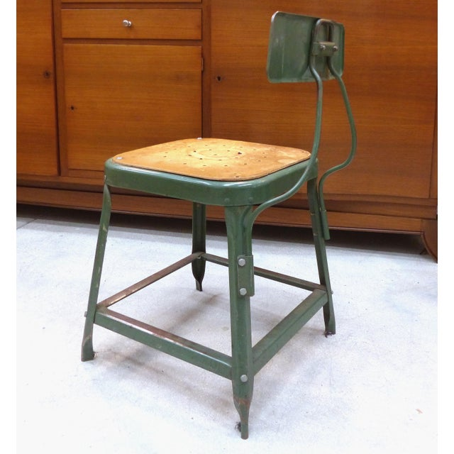 Industrial Industrial Metal Desk Chair For Sale - Image 3 of 10