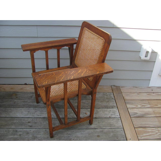 Arts and Crafts period gem. The KENDALL CHAIR. The design is by David Walcott Kendall in 1894. Manufactured by Hubbard,...
