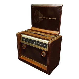 "Motorola ""Scan-O-Scope"" Portable Am Radio Circa 1940s Display Piece, Free With Another Radio Purchase For Sale"