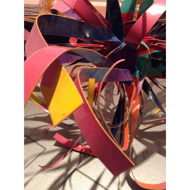 Dorothy Gillespie Enamel and Aluminum Art Sculpture Starburst For Sale - Image 10 of 11