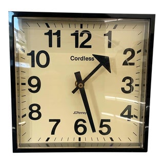 Mid Century Modern Jc Penney Wall Clock For Sale