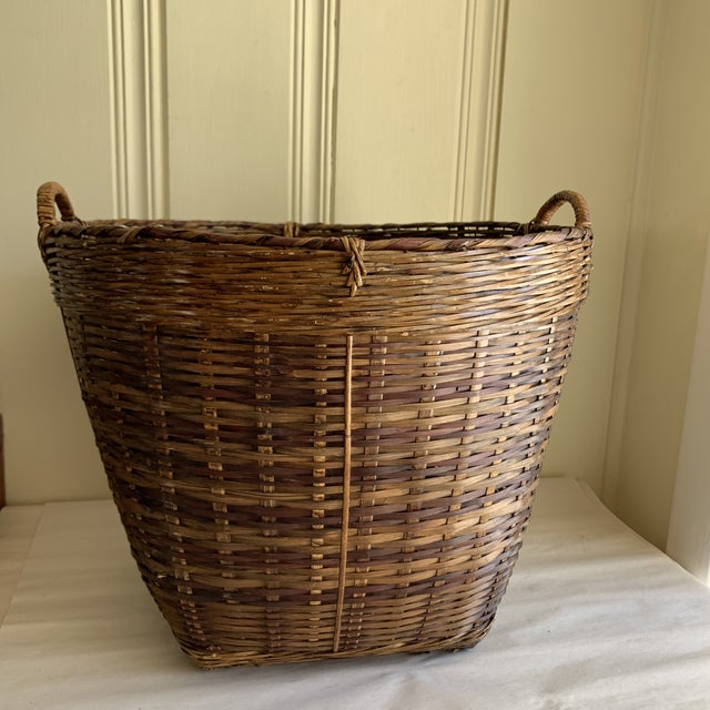 2000 - 2009 Earthy Wood Rustic Decor & Storage Basket For Sale - Image 5 of 9