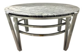 Image of Newly Made Stone Outdoor Tables