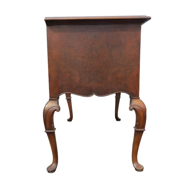1920s Chippendale Tobey Furniture Company Walnut and Burl Lowboy For Sale - Image 11 of 13