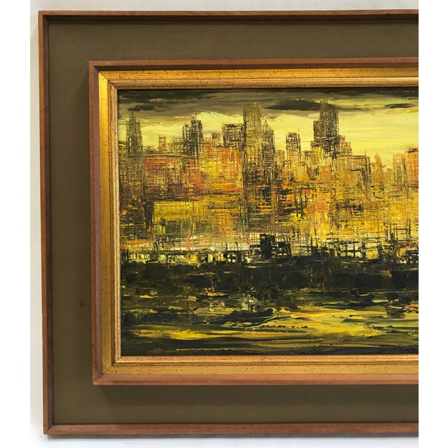 Viola Allen Abstract Cityscape Painting - Image 2 of 9