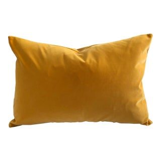 Mustard / Ochre Velvet Feather Down Accent Pillow, Tailor-Made For Sale