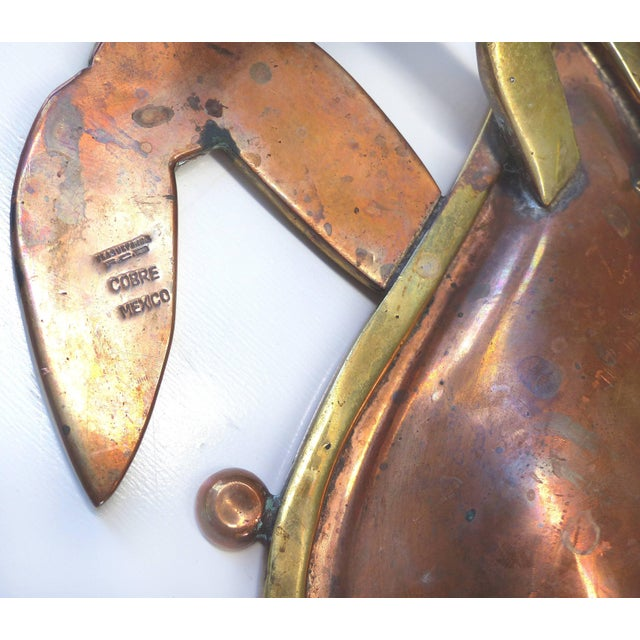 Monumental Los Castillos Style Abalone Metal Crab Bowl With Two Side Dishes For Sale - Image 10 of 11