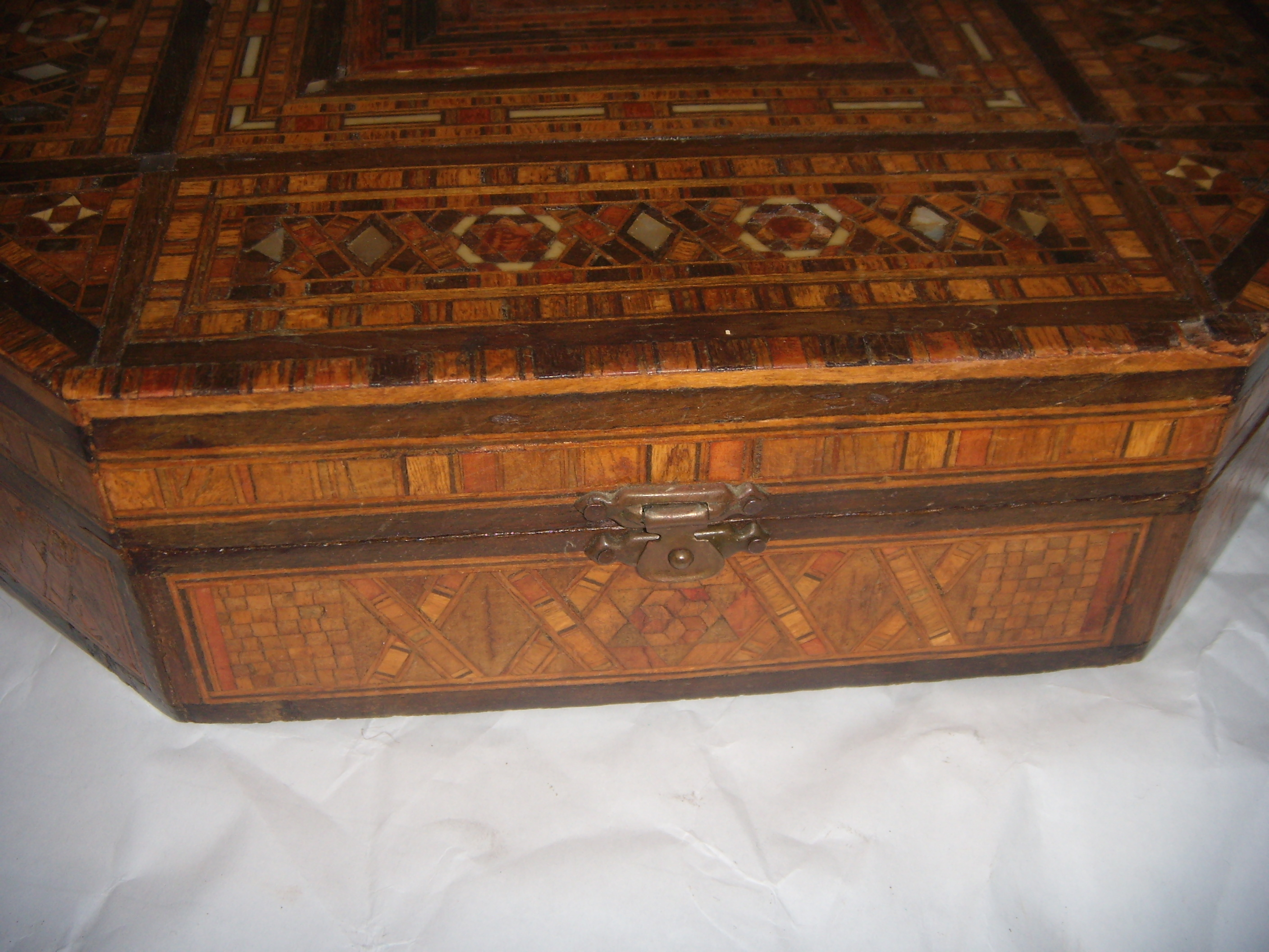 Antique Damascus Inlaid Jewelry Box Chairish