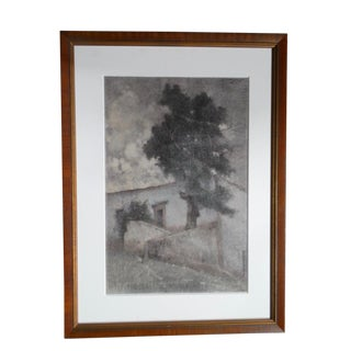 "Maria Pepa LaMarque ""Adobe"" Charcoal Drawing C 1920 For Sale"
