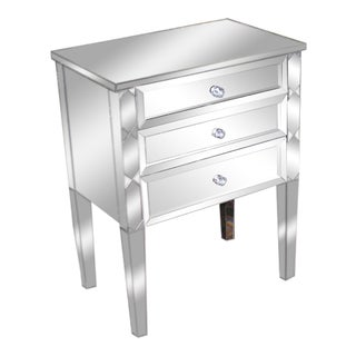 Pair of Custom-Made Mirrored Commodes
