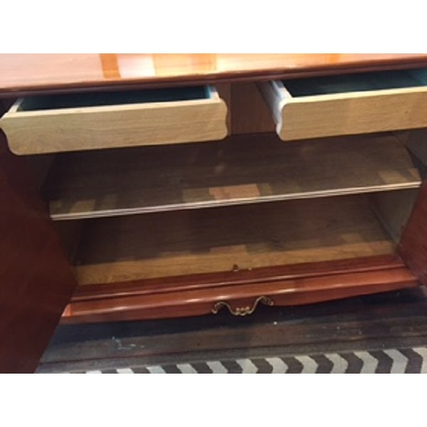 Mid-Century French Wood Buffet - Image 5 of 6