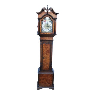 Antique Georgian Style Grandmother Clock For Sale