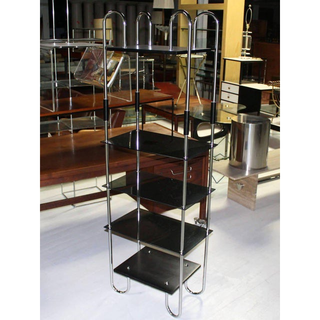 Mid-Century Bauhaus Style Etagere For Sale - Image 9 of 11