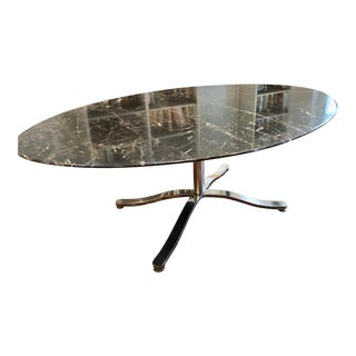 Mid-Century Modern Nicos Zagraphos Oval Dining Table For Sale