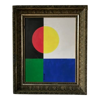 Modernist Color Block Abstract Painting by Seymour Zayon For Sale