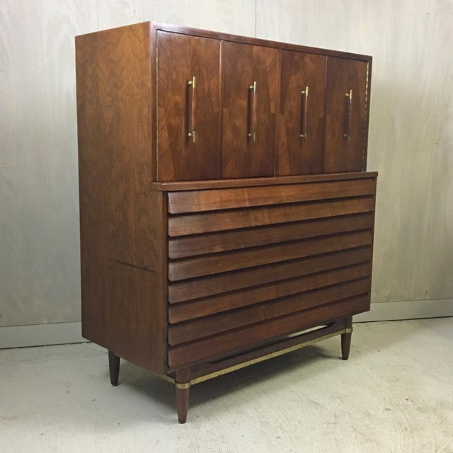 Dania Highboy for American of Martinsville by Merton Gershun For Sale - Image 9 of 9