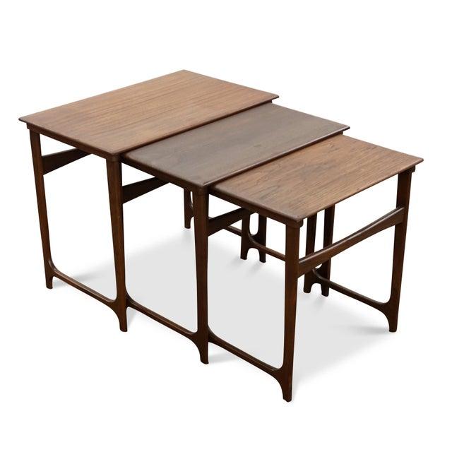 "Teak Danish Modern Nesting Tables - ""Taastrup"" For Sale - Image 7 of 7"