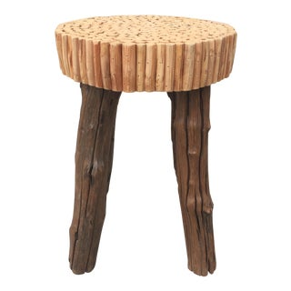 Modern Wooden Bubble Stool For Sale