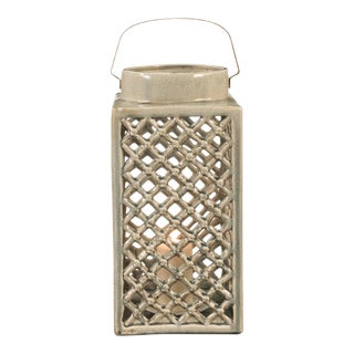 Modern Sarreid LTD Large Ceramic Lantern For Sale