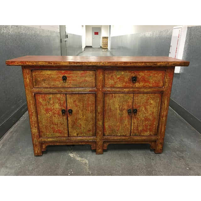 Vintage Asian-Style Distressed Sideboard - Image 2 of 8