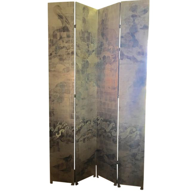 Hand Painted Folding Screen - Image 1 of 7