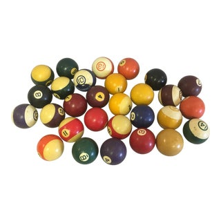 Vintage Pool Balls- a Set of 29