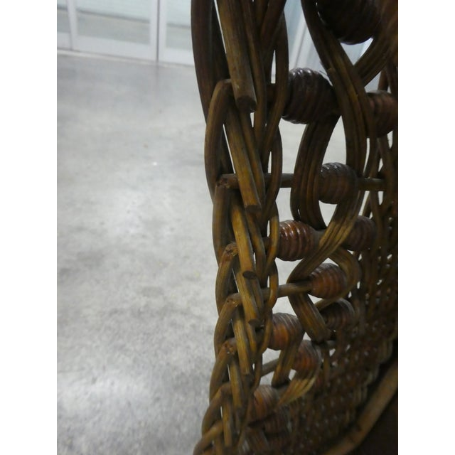 Victorian Heywood Wakefield Wicker Rocking Chair For Sale - Image 11 of 13