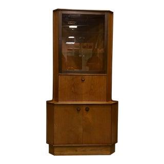Mid-Century Teak Corner Cabinet For Sale