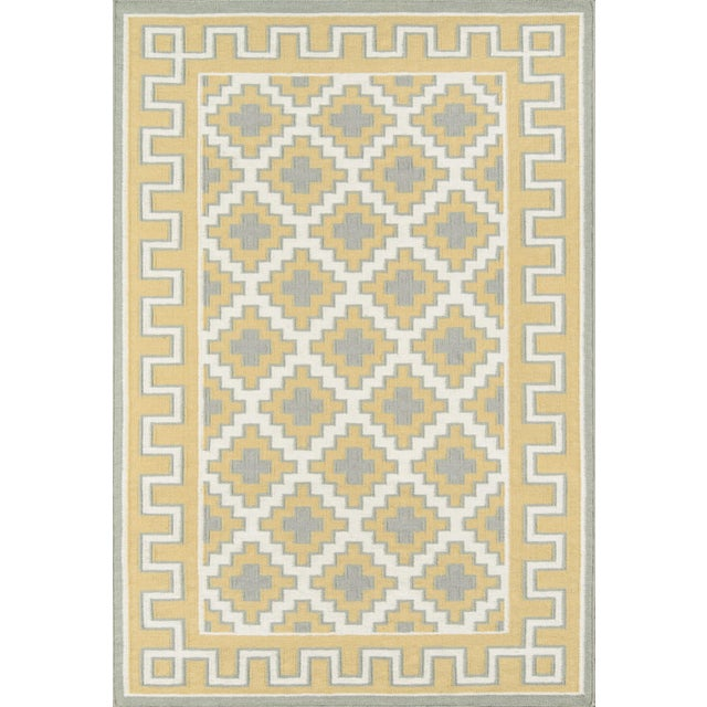 Textile Erin Gates by Momeni Thompson Brookline Gold Hand Woven Wool Area Rug - 7′6″ × 9′6″ For Sale - Image 7 of 8