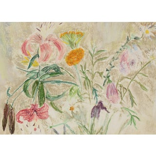 "Anne Granick ""Loose Flowers"" Still Life in Pastel, Circa 1960s Circa 1960s Preview"