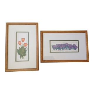 1970s Botanical Prints, Framed - a Pair For Sale